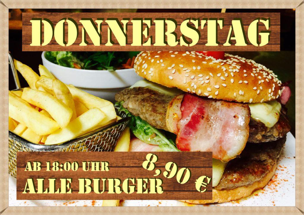 Donnerstag = BurgerNight!   Alle Burger für nur 8,90 € im Peppers Regensburg